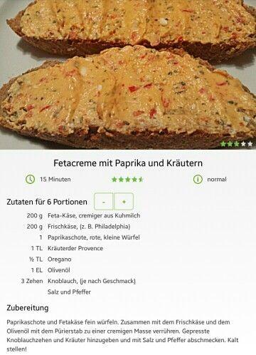 Fetacreme mit Paprika