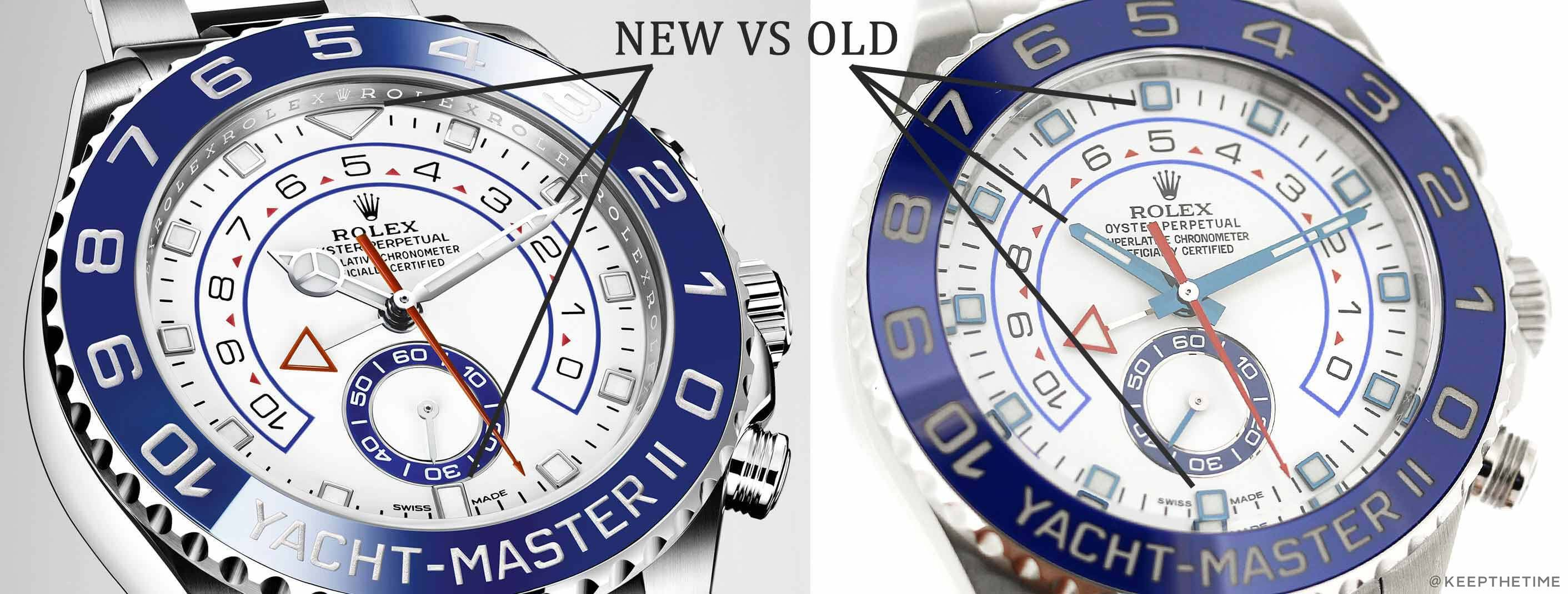 c446e6c68 Rolex Yacht-Master II 116680 Differences Compared: New 2017 VS Old ...