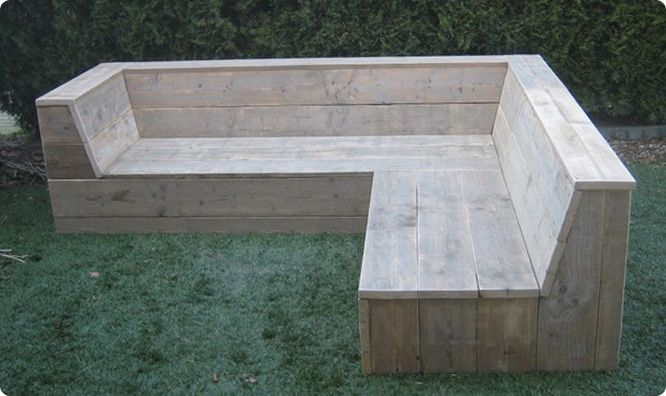 Steigerhouten tuinmeubelen on Pinterest : Vans, Lounges and Tuin