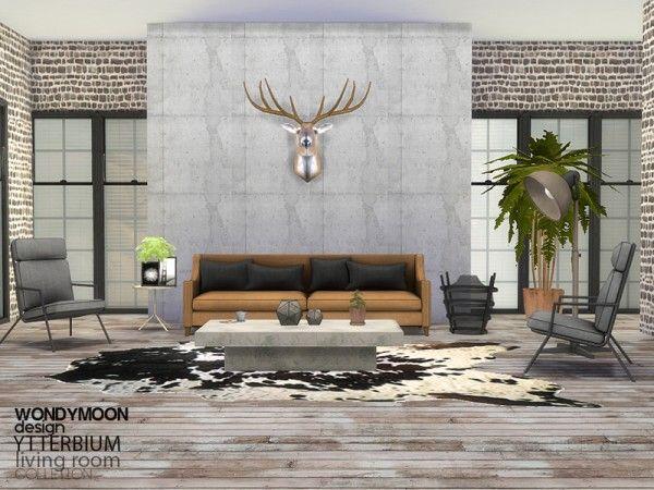 The Sims Resource: Ytterbium Livingroom by wondymoon • Sims 4 ...