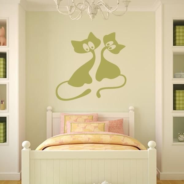 cat wall stickers and painting ideas for decorating empty walls ...