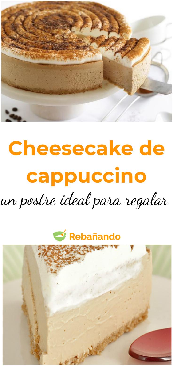 Un POSTRE ideal para hacer y regalar ¡CHEESECAKE de CAPPUCCINO!