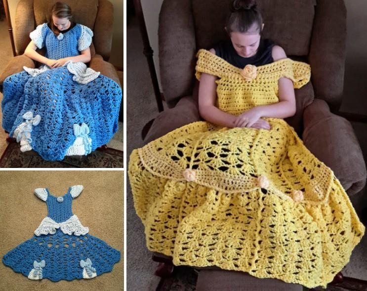 Amigurumi Patterns Disney : Disney princess crochet blanket lots of adorable patterns