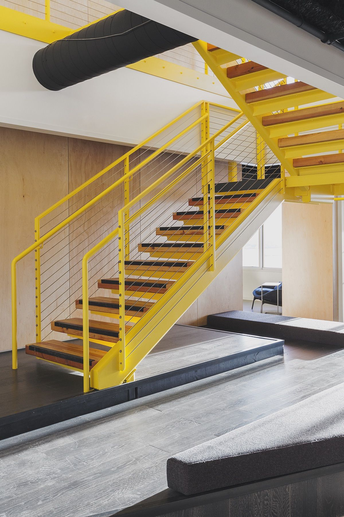 Stairway At Anonymous Tech Media Company Offices In Seattle