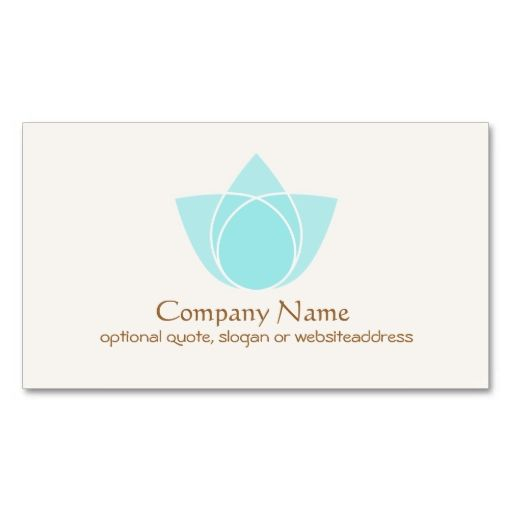Simple blue lotus flower business card make your own business card simple blue lotus flower business card make your own business card with this great design colourmoves