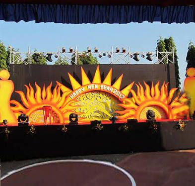 Image Result For College Fest Decoration Ideas Outdoor Stage
