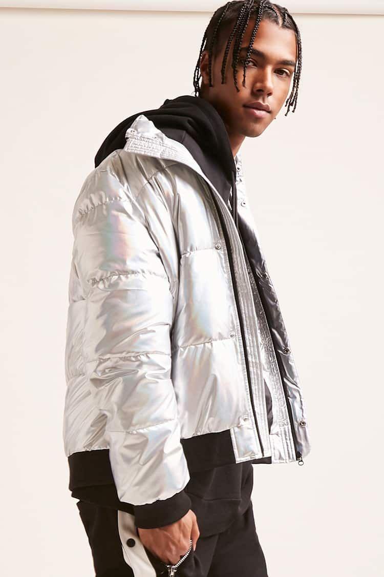 Metallic Puffer Jacket Jackets Puffer Jackets Mens Jackets [ 1125 x 750 Pixel ]