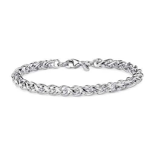 Wheat Bracelet in Sterling Silver, nice charm bracelet option.