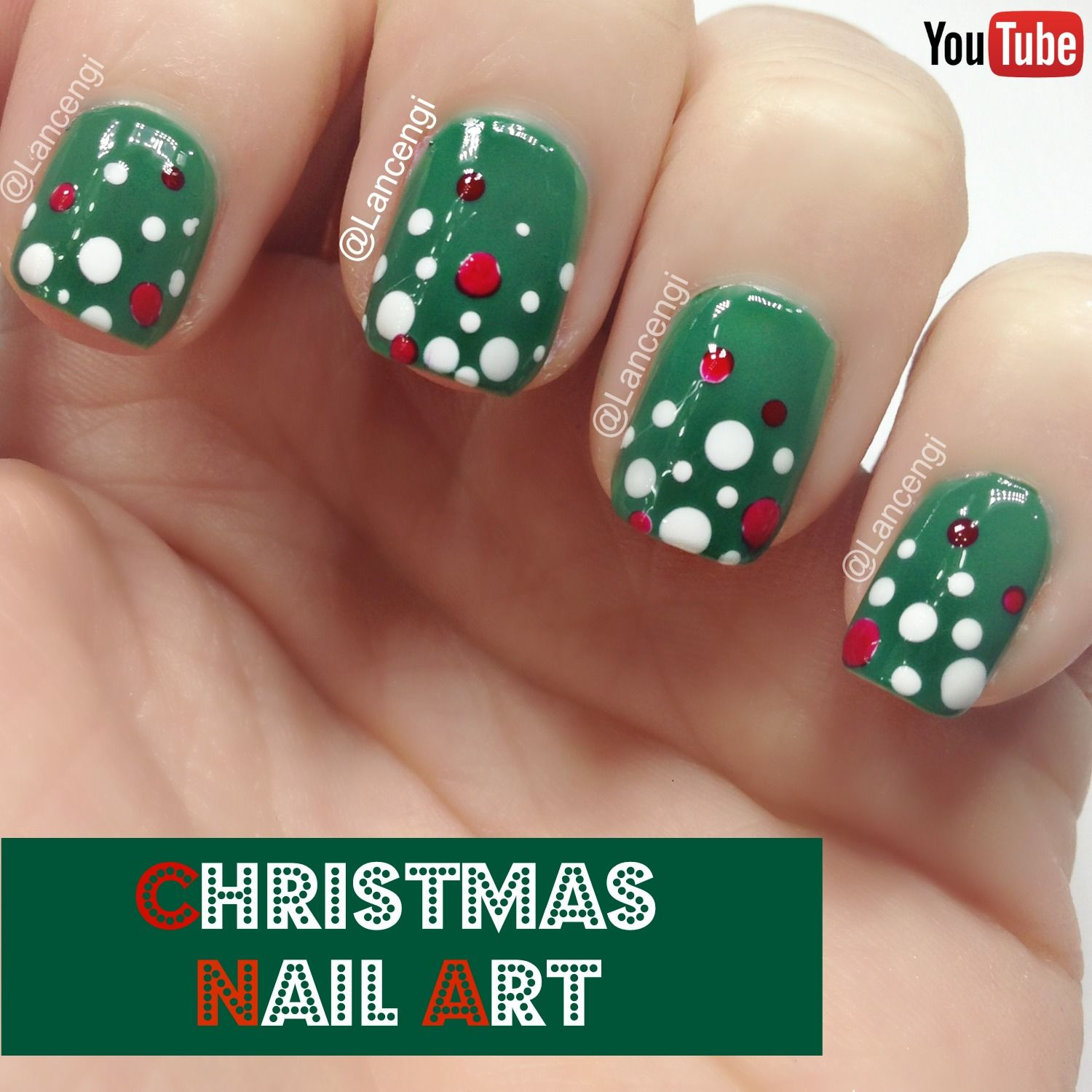 Simple Nail Art For Short Nails: Easy Christmas Nail Art For Short Nails