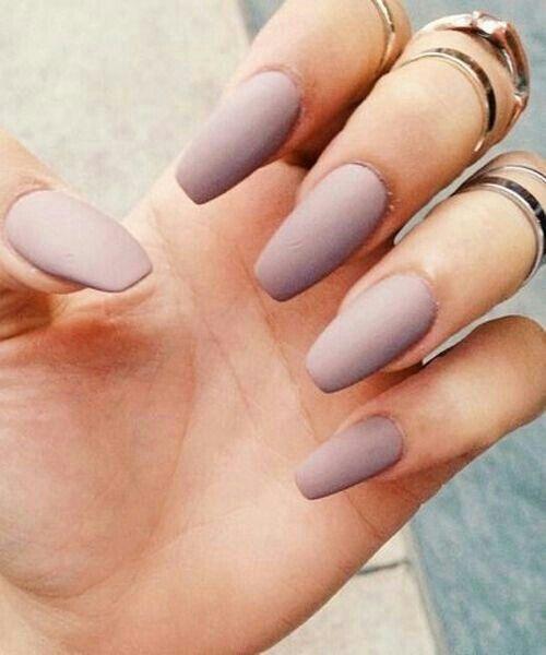 neutral matte nails