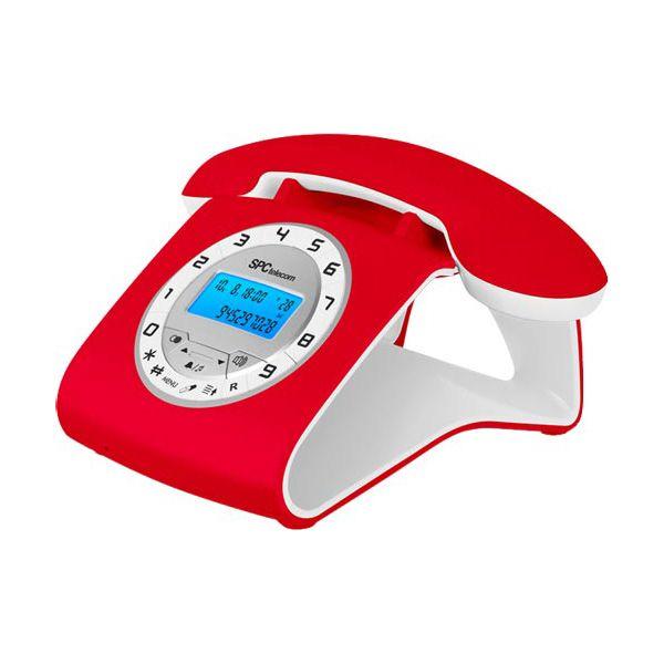 Telefono Fijo Retro Elegance SPCtelecom 3606 Rojo... http://www.opirata.com/telefono-fijo-retro-elegance-spctelecom-3606-rojo-p-13195.html