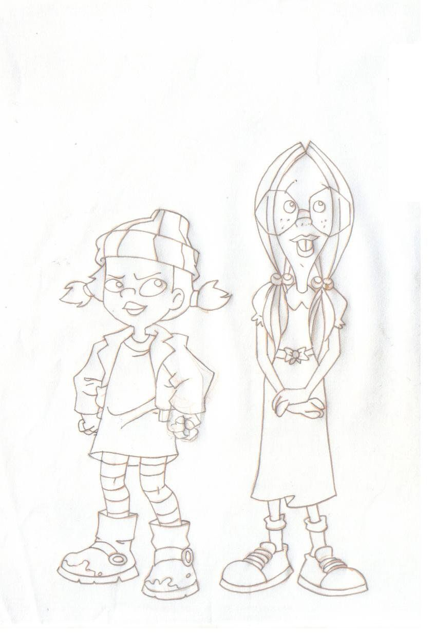 Spinelli And Gretchen By Marcosbnpinto Deviantart Com On Deviantart Drawing Cartoon Characters Recess Cartoon Character Drawing