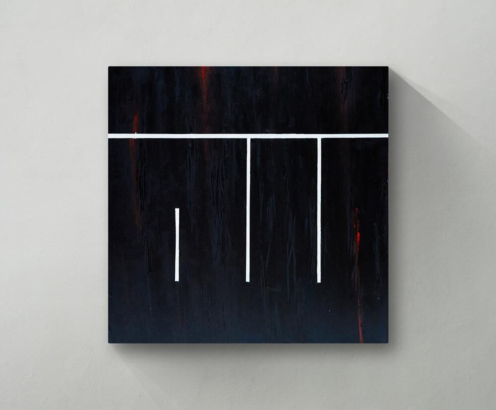 A minimalist kufic canvas one of my most treasured by ruh al