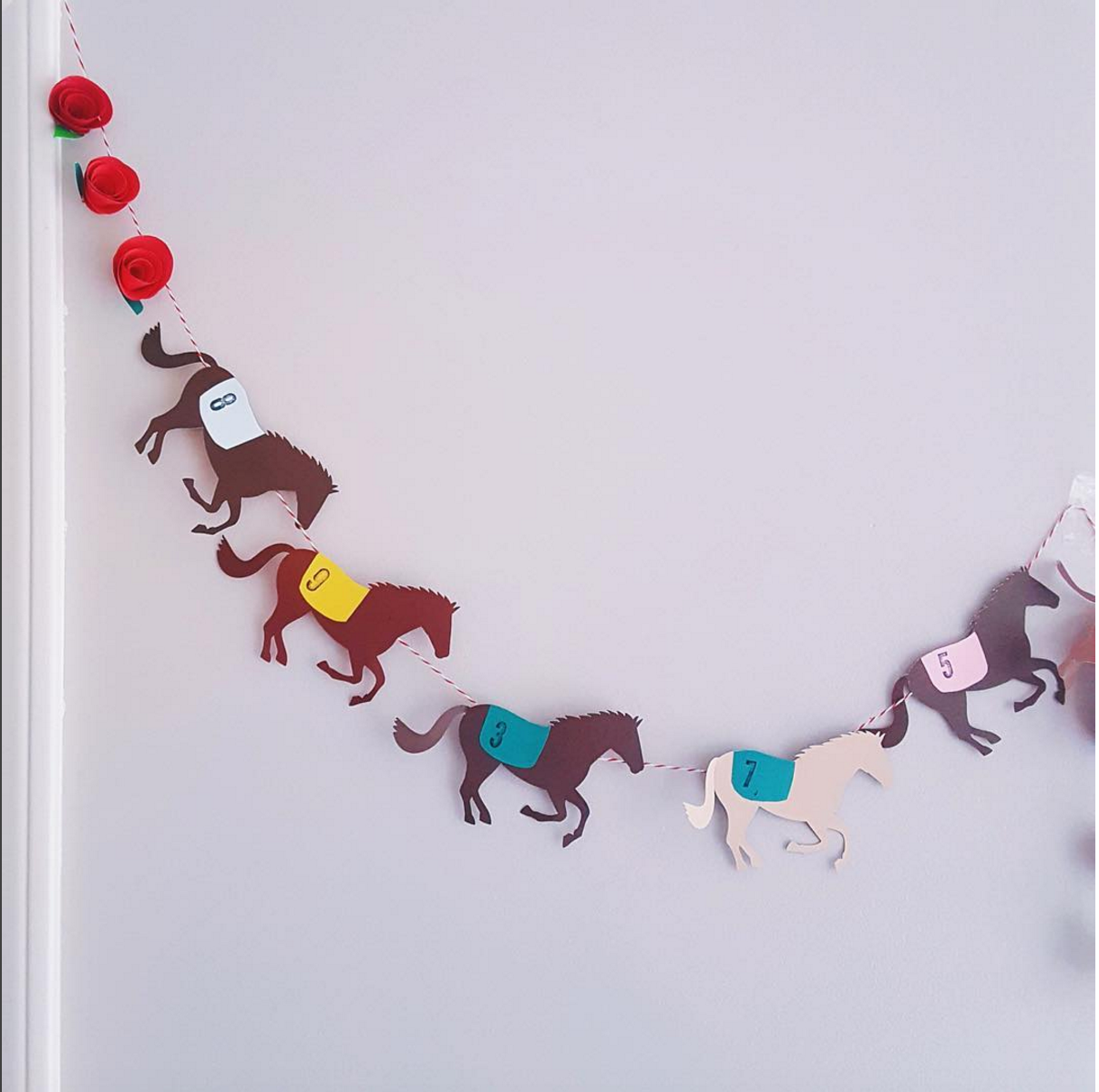 Kentucky Derby Party Decorations * Derby Garland By The
