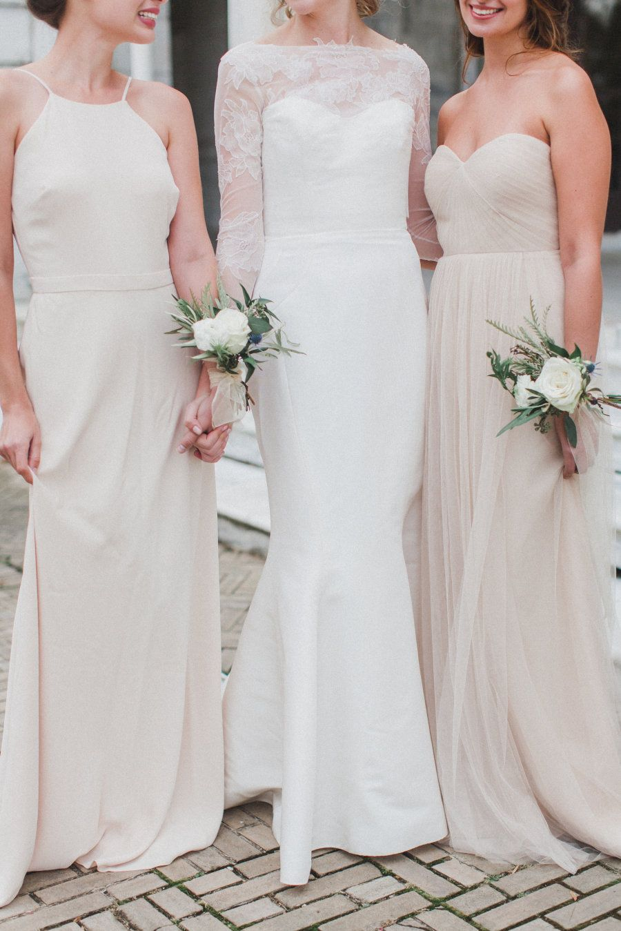 Ethereal early morning wedding inspiration read more dresses bridesmaid ombrellifo Images