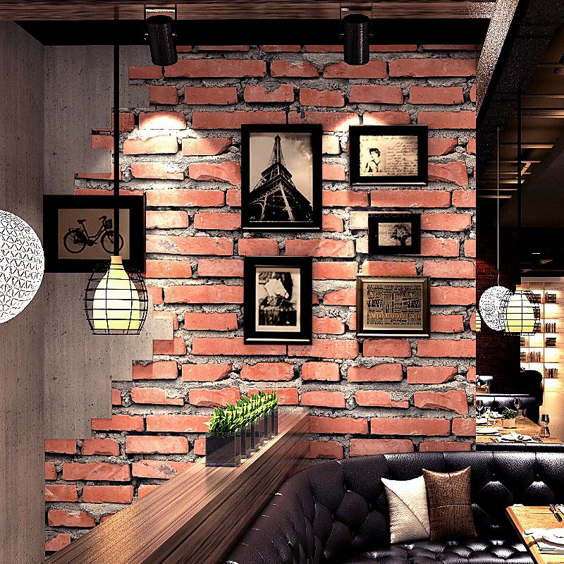 Retro Vintage 3d Simulation Red Stereoscopic Brick Living Room Bedroom Wallpaper Red Brick Wallpaper Bedroom Brick Wallpaper Living Room Brick Wallpaper Room