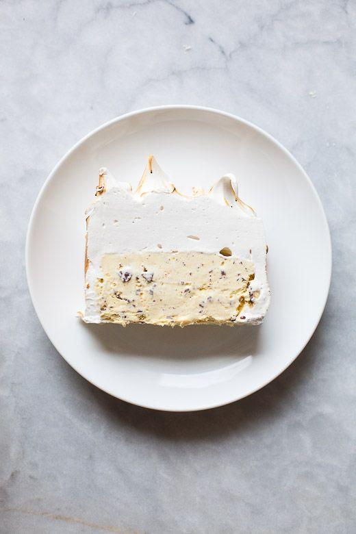 Honey Saffron Chocolate Chip Ice Cream Cake | ZoeBakes