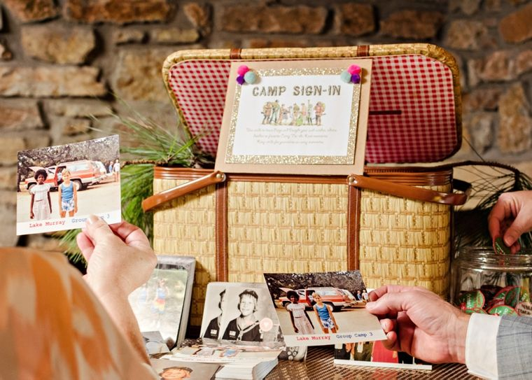 A Colorful Summer Camp Themed Wedding With Images Summer Camp