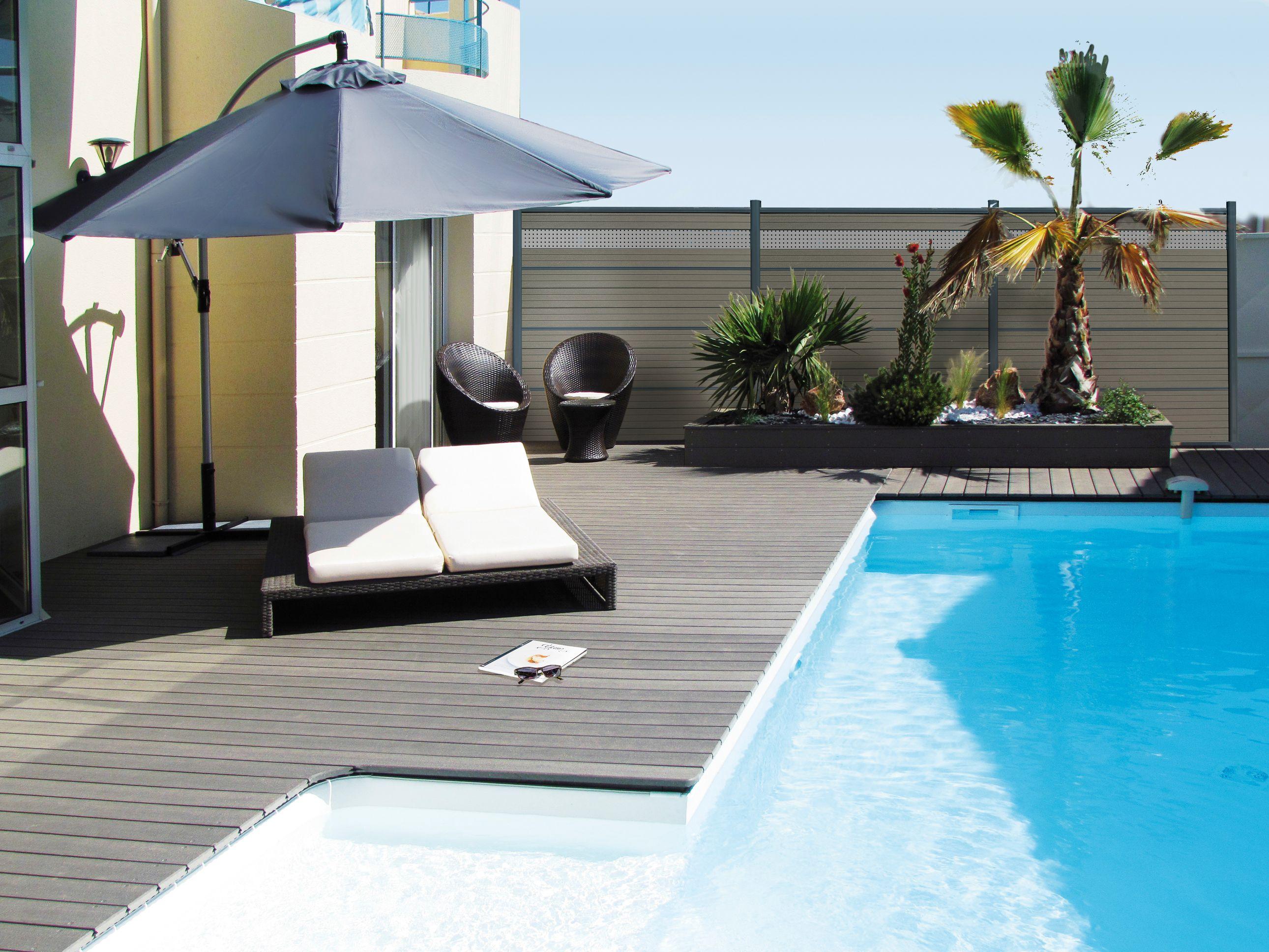 Neowood anthracite terrasplank glad zwembad antislip