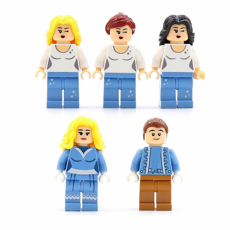 5PCS Military Survival Boys Girls Cartoon Building Blocks Bricks Figures Toys