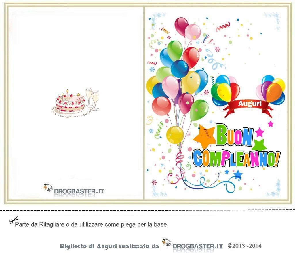 Biglietto Da Stampare Gratis In Occasione Del Compleanno