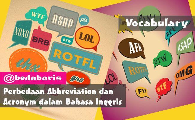 Perbedaan Abbreviation Dan Acronym Dalam Bahasa Inggris Terlengkap Inggris Bahasa Inggris Bahasa