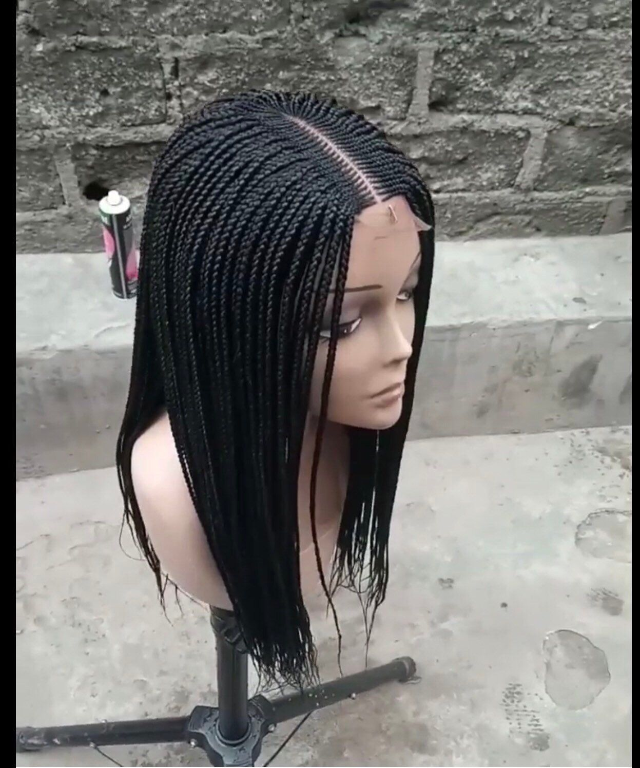 Braided wig box braids made to order lace closure