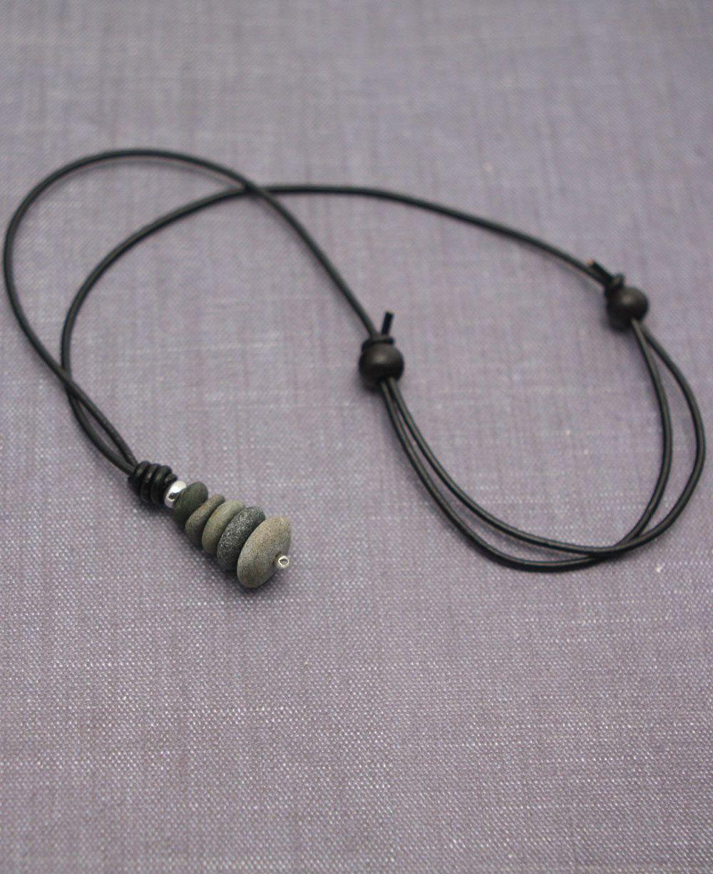9e3c053f91de Zen stones pendant necklace available at Buddha Groove. Arte De Guijarros