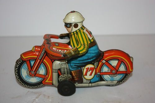 Tin Indian Race Motorcycle 17 Made in Japan in 1950'S | eBay | I