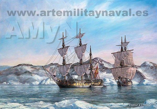 Pintura Militar y Naval: Expedición de Alessandro Malaspina por Canadá occidental.
