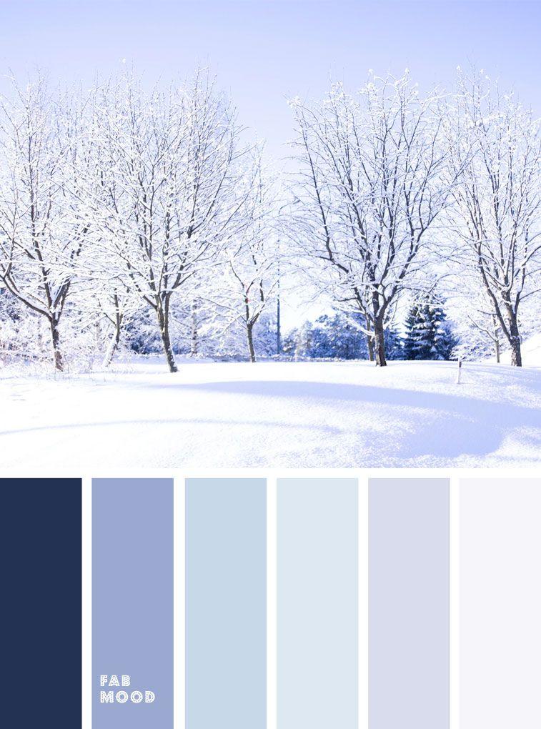 Lavender and blue winter color palette