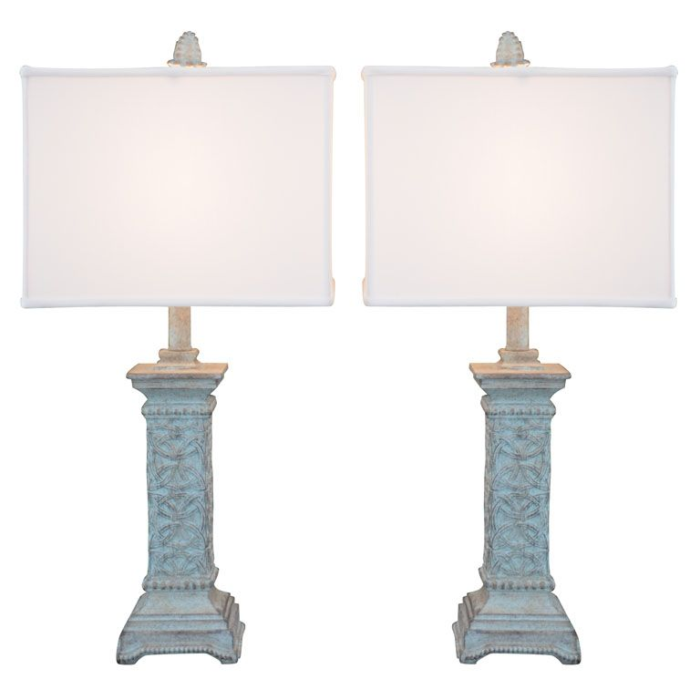 Pair Of Celtic Knot Motif Table Lamps 1stdibs Com Vintage Table Lamp Table Lamp Lamp