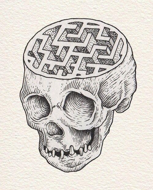 Pin by Mama Wolf on creations ○   Tattoos, Brain tattoo
