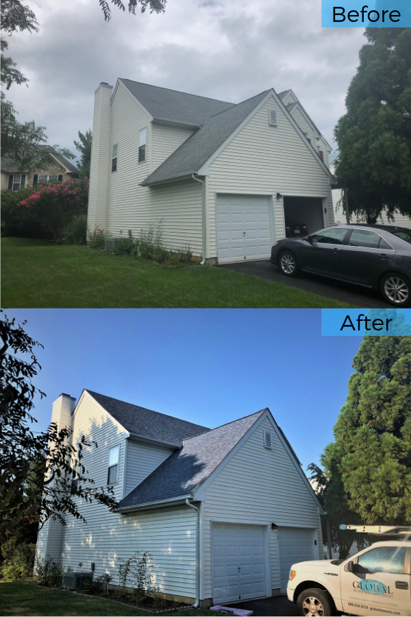 Best Before And After Replacing Leaky Shingles With Harbor 400 x 300