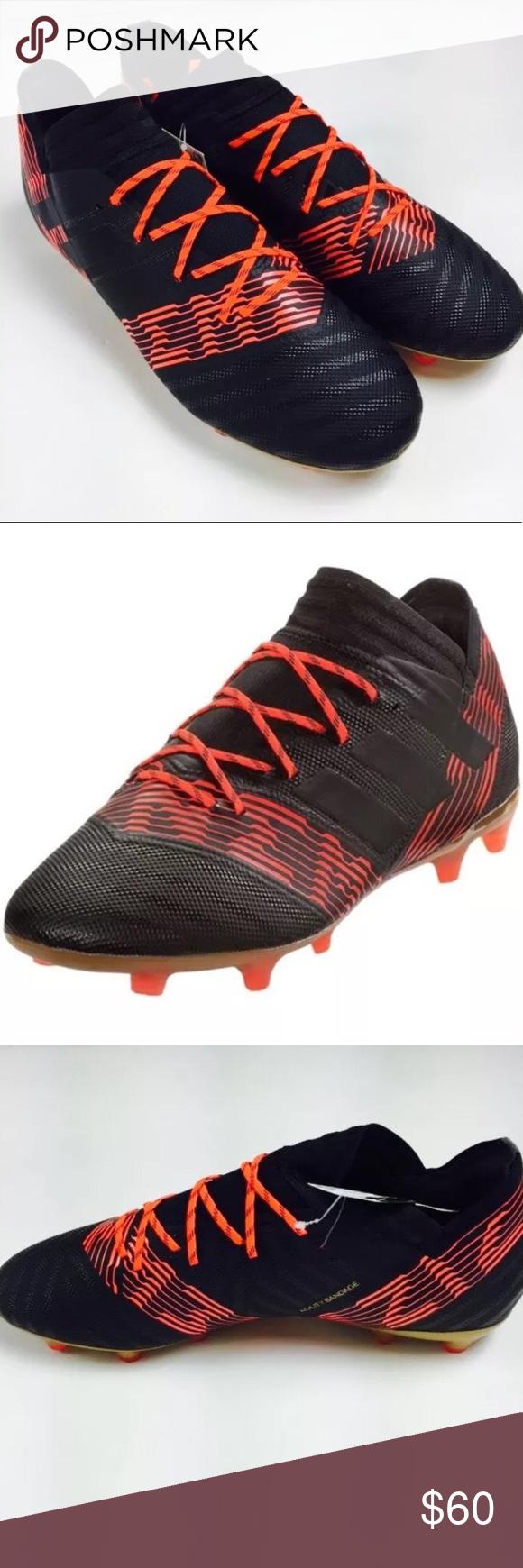 6d736ea3813b Soccer ⚽ Adidas Nemeziz 17.2 FG Cleat Black Solar This is a brand new never  before worn pair of Adidas Nemeziz 17.2 FG Soccer Cleats in Black-Solar-Red  ...