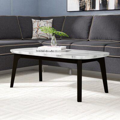 Latitude Run Calvisia Coffee Table In Marble And Grey Oak Coffee Table Wayfair Coffee Table Design Table