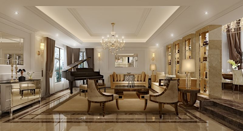 Expensive Interior Living Room Lounge | 3D Model Home Design Ideas