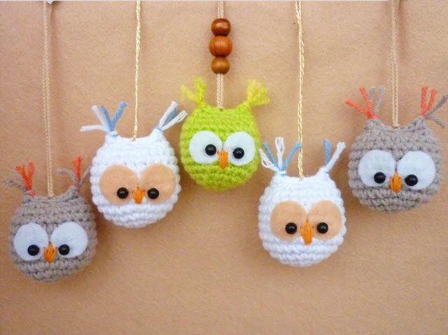 Amigurumi Patrones Gratis De Buho : Amigurumi owl keychain pattern llaveros crochet buos y llaveros