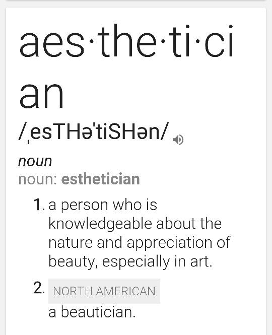 Esthetician Definition