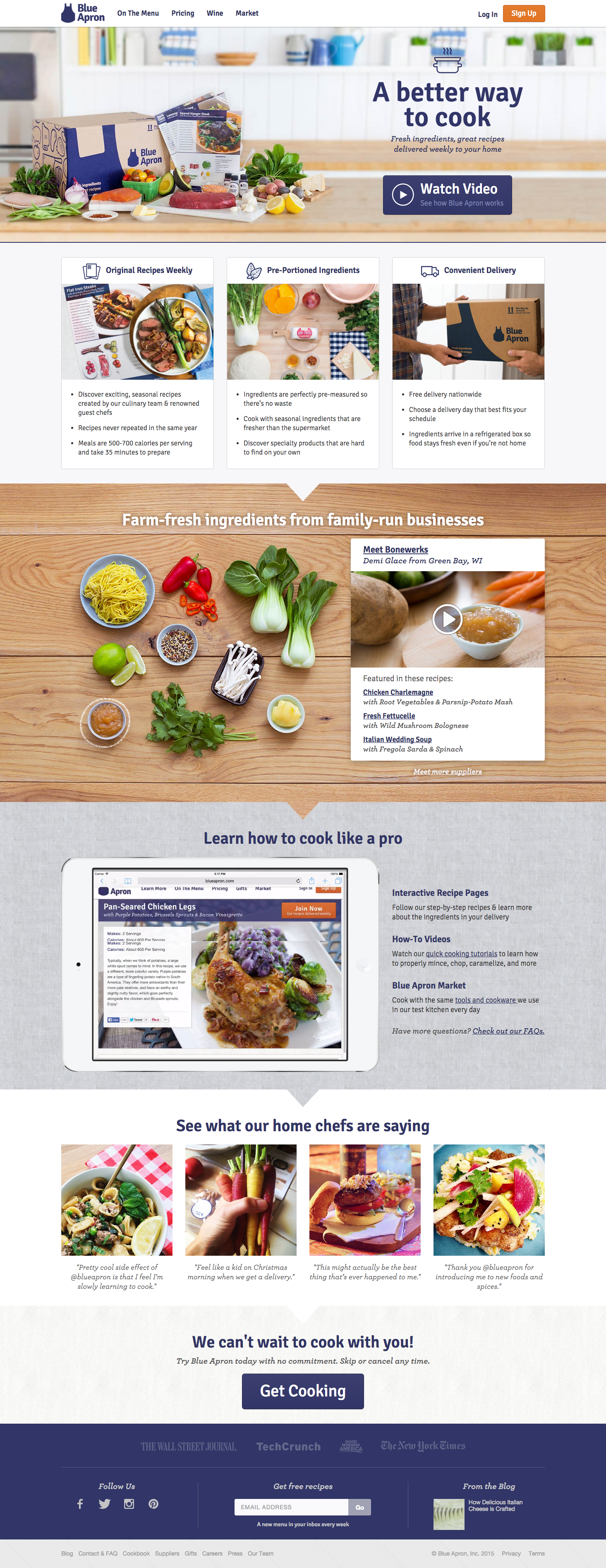 Blue apron target market - Blue Apron Landing Page Ux 10 1 2015 Ux Landingpage Blueapron