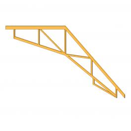 Scissor truss Revit model   3D Architectural CAD models