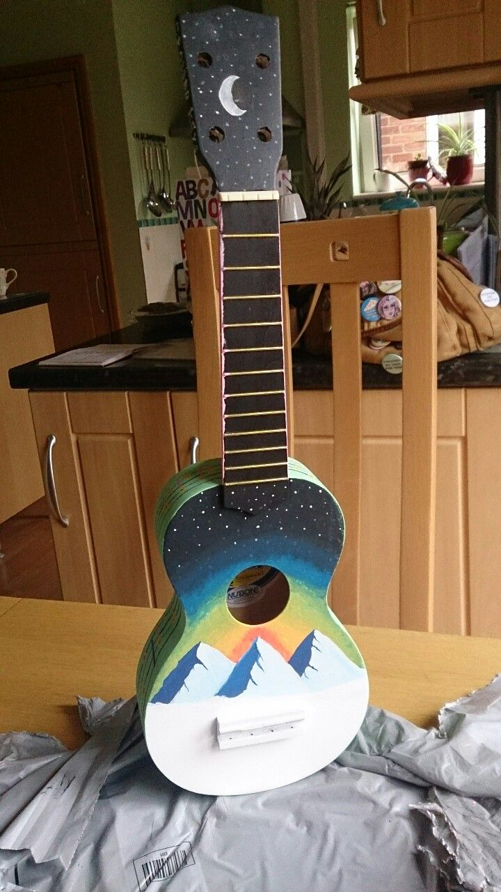Customized Ukulele Tumblr Gitar Sanat In 2018 Pinterest Art Songs Violin Ukelele Painted