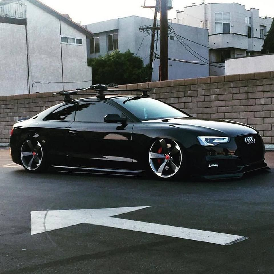 #Audi #S5 #Bagged #Tucked #Slammed #Accuair #Modified