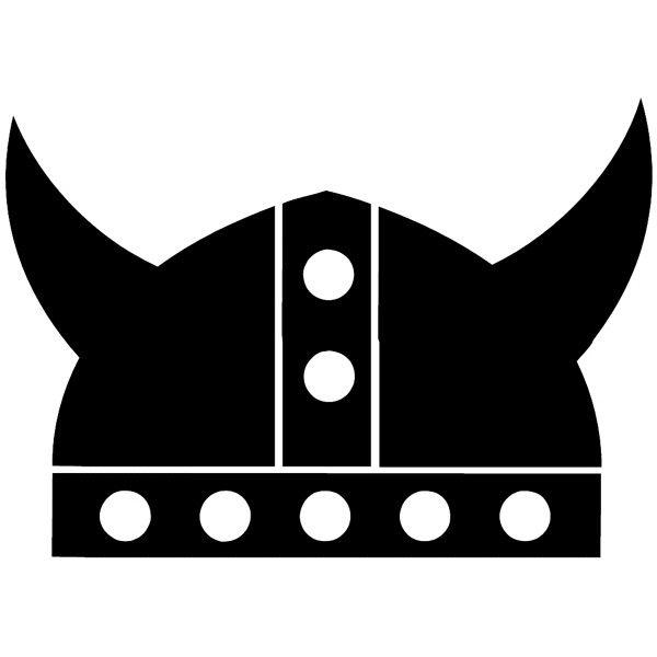 Viking Helmet Silhouette Vinyl Sticker Customize On Line