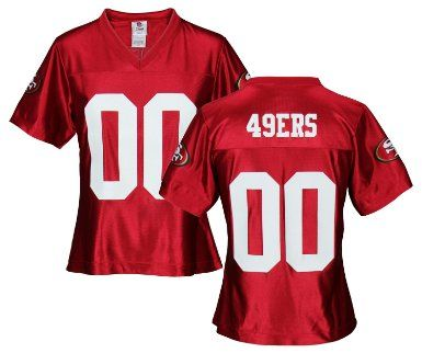 new arrival 699f5 3b25b San Francisco 49ers NFL Womens Team Dazzle Jersey, Red ...