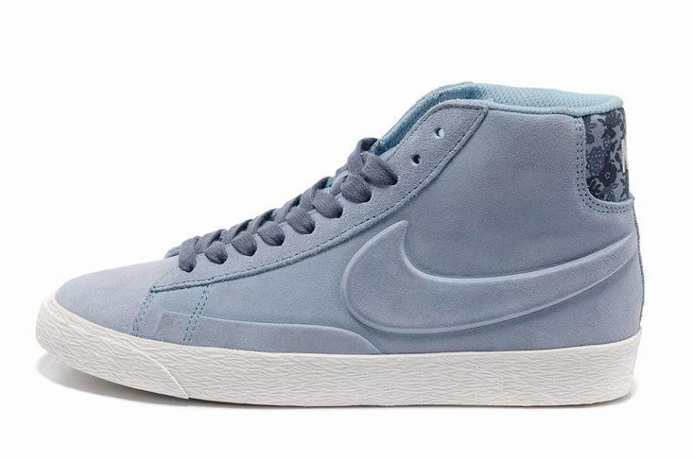 Nike Blazer Hautes Femme Daim VT Bleu Clair
