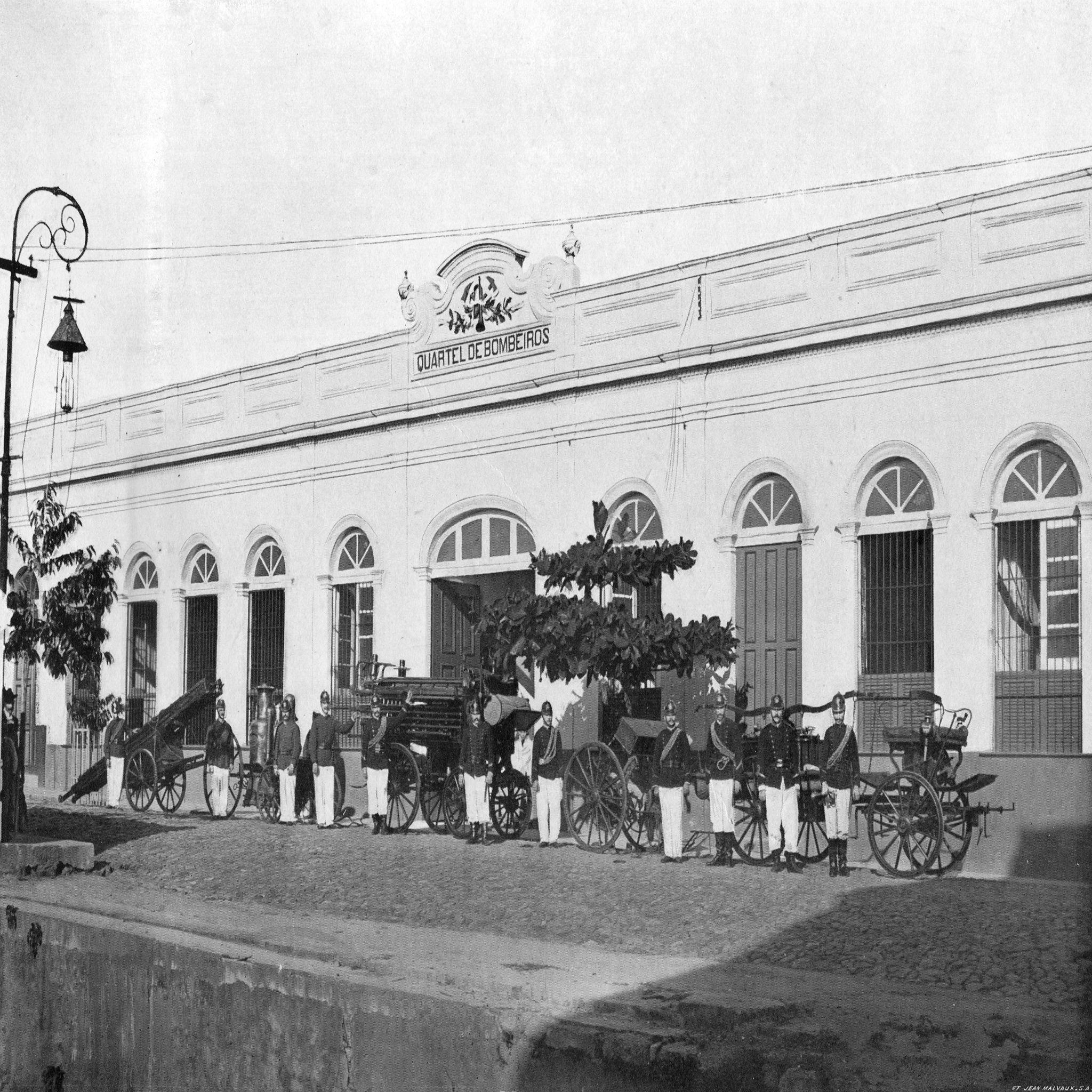 Quartel de bombeiros. Manaus. Álbum do Amazonas 1901-1902.