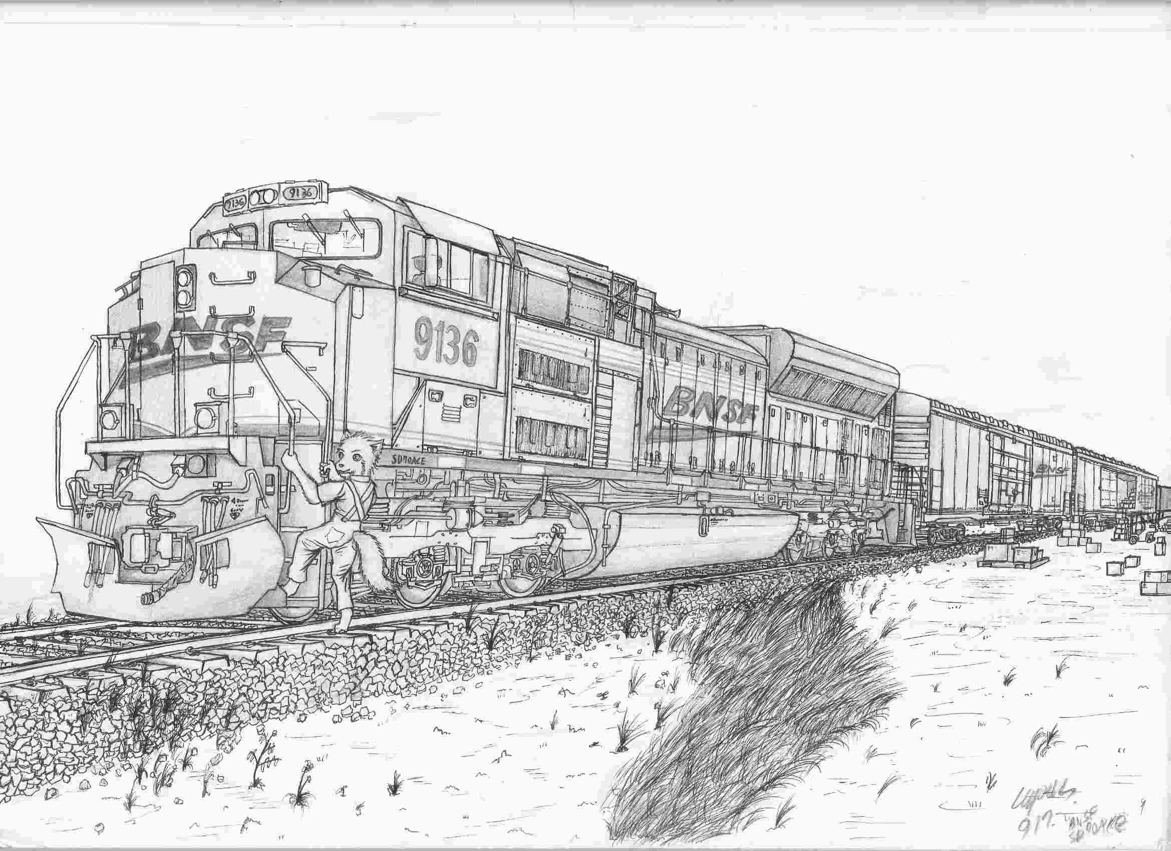Bnsf Train Coloring Pages - Learning How to Read