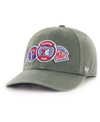 2c032e088  47 Brand Philadelphia 76ers Diamond Patch Clean Up Mf Cap - Green  Adjustable.
