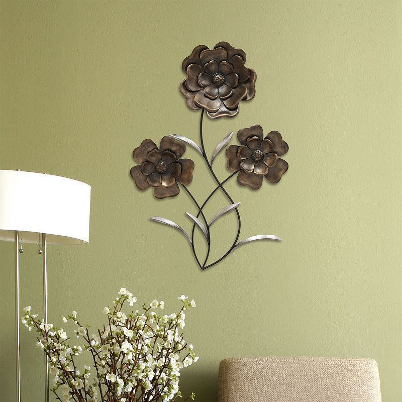Stratton Home Decor Metal Flower Wall Decor, Other Clrs | Flower ...